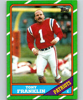 1986 Topps #37 Tony Franklin Patriots NFL Football