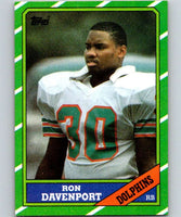 1986 Topps #47 Ron Davenport RC Rookie Dolphins NFL Football