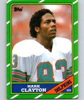 1986 Topps #49 Mark Clayton Dolphins NFL Football