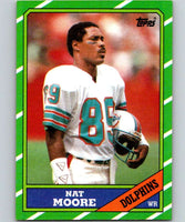 1986 Topps #50 Nat Moore Dolphins NFL Football