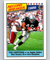 1987 Topps #2 Todd Christensen LA Raiders RB NFL Football
