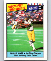 1987 Topps #4 Charlie Joiner Chargers RB NFL Football