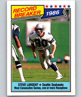 1987 Topps #5 Steve Largent Seahawks RB NFL Football
