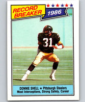1987 Topps #7 Donnie Shell Steelers RB NFL Football