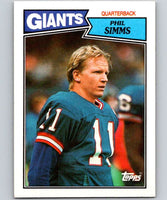 1987 Topps #10 Phil Simms NY Giants NFL Football