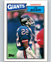 1987 Topps #13 Lee Rouson NY Giants NFL Football