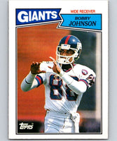 1987 Topps #14 Bobby Johnson NY Giants NFL Football