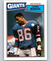 1987 Topps #15 Lionel Manuel NY Giants NFL Football