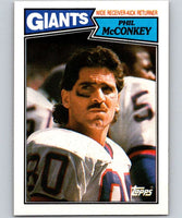 1987 Topps #16 Phil McConkey NY Giants NFL Football