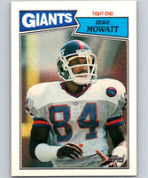 1987 Topps #18 Zeke Mowatt NY Giants NFL Football