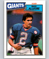 1987 Topps #19 Raul Allegre NY Giants NFL Football