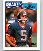 1987 Topps #20 Sean Landeta NY Giants NFL Football