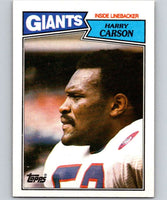 1987 Topps #25 Harry Carson NY Giants NFL Football