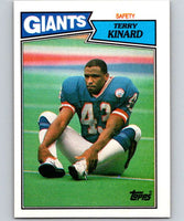 1987 Topps #27 Terry Kinard RC Rookie NY Giants NFL Football