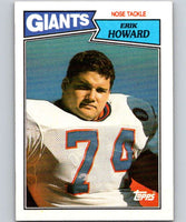1987 Topps #29 Erik Howard RC Rookie NY Giants NFL Football