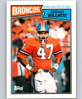 1987 Topps #32 Gerald Willhite Broncos NFL Football