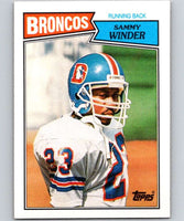 1987 Topps #33 Sammy Winder Broncos NFL Football