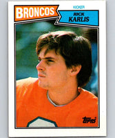 1987 Topps #36 Rich Karlis Broncos UER NFL Football