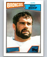 1987 Topps #37 Keith Bishop Broncos NFL Football