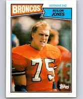 1987 Topps #38 Rulon Jones Broncos NFL Football