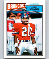 1987 Topps #40 Louis Wright Broncos NFL Football