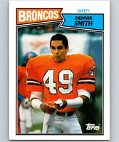 1987 Topps #42 Dennis Smith Broncos NFL Football