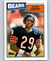1987 Topps #49 Dennis Gentry RC Rookie Bears NFL Football