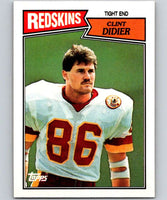 1987 Topps #70 Clint Didier RC Rookie Redskins NFL Football