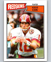 1987 Topps #71 Steve Cox Redskins NFL Football