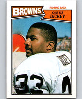 1987 Topps #81 Curtis Dickey Browns NFL Football