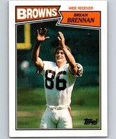 1987 Topps #84 Brian Brennan RC Rookie Browns NFL Football