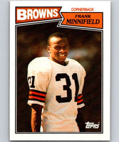 1987 Topps #92 Frank Minnifield Browns NFL Football
