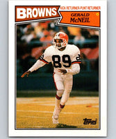 1987 Topps #94 Gerald McNeil RC Rookie Browns NFL Football