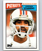 1987 Topps #103 Stephen Starring Patriots NFL Football