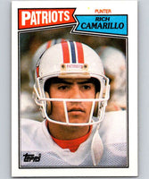 1987 Topps #105 Rich Camarillo Patriots NFL Football