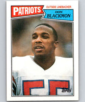 1987 Topps #108 Don Blackmon Patriots NFL Football