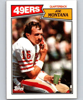 1987 Topps #112 Joe Montana 49ers NFL Football