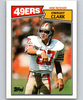 1987 Topps #116 Dwight Clark 49ers NFL Football