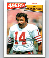 1987 Topps #117 Ray Wersching 49ers NFL Football