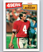 1987 Topps #118 Max Runager 49ers NFL Football