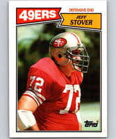1987 Topps #119 Jeff Stover 49ers NFL Football