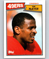 1987 Topps #121 Tim McKyer RC Rookie 49ers NFL Football
