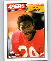 1987 Topps #122 Don Griffin RC Rookie 49ers NFL Football