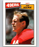 1987 Topps #124 Tom Holmoe 49ers NFL Football