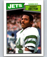 1987 Topps #130 Johnny Hector RC Rookie NY Jets NFL Football