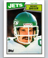 1987 Topps #133 Mickey Shuler NY Jets NFL Football