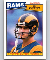 1987 Topps #145 Jim Everett RC Rookie LA Rams NFL Football