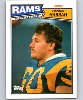 1987 Topps #152 Dennis Harrah LA Rams NFL Football