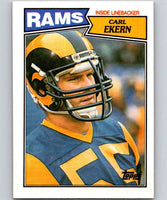 1987 Topps #155 Carl Ekern LA Rams NFL Football