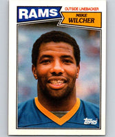 1987 Topps #156 Mike Wilcher LA Rams NFL Football